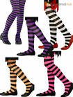 Girls Stripey Striped Tights Halloween Witch Alice Fancy Dress Child Costume