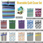 Choice of Design - REVERSIBLE Quilt Cover Set by Apartmento - DOUBLE QUEEN KING