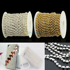 SS6/SS8/SS10/SS12/SS16/SS18 Crystal Rhinestone Cup Chain DIY Silver/Golden
