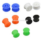 New 8-14MM Double Flare Flexible Silicone Ear Tunnel Plugs Swirl Earlets EN24H