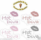 HOT DIVA LIPS BUBLE IRON-ON RHINESTONE BLING GIRL HEN NIGHT PARTY TRANSFER MOTIF