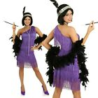 Womens 1920s Purple Gatsby Flapper Costume 20s Charleston Fancy Dress Outfit
