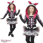 FANCY DRESS COSTUME # GIRLS HALLOWEEN SKELLY RABBIT OUTIFT AGE 7-13 YEARS