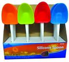 Silicone Slotted Or Solid Spoon Kitchen Utensil Cooking Red Blue Green Orange