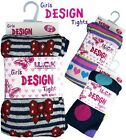 GIRLS KNITTED TIGHTS AGES 2/3, 3/4, 5/6, 7/8 YEARS (CHOOSE DESIGN/COLOUR) (C)
