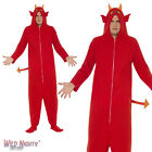 Halloween Fancy Dress # Adult Red Devil Onesie Costume