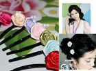 10Pcs New Women&Girls  Rose Hair Clips Wedding Bridal Hair Clip Flower Clips