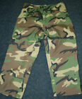 US MILITARY BDU TROUSERS WOODLAND CAMO ECW GORE-TEX RAIN PANTS WATERPROOF
