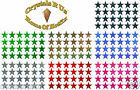25mm STARS FABRIC IRON-ON HOTFIX DIY CRAFT CARD MAKING SCRAPBOOK EMBELLISHMENTS