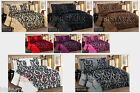 3PC FLOCKED QUILTED COMFORTER BEDSPREAD & 2 PILLOW SHAMS - BED SPREAD THROW