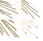 Внешний вид - 14k Gold Filled Yellow Rose Flat Headpins Pins 26 24 22 Gauge GA Many Size