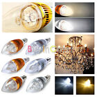 E14 Base 3W 4W 5W LED Powerful Candle Light Dimmable bulb Warm/Pure White 85-265