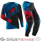 THOR 2014 CORE S14 RAZOR BLUE MX MTB ENDURO JERSEY & PANTS COMBO MOTOCROSS KIT