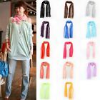 Fashion Women Candy Color Thin Long Crinkle Design Soft Scarf Shawls Wrap Stole