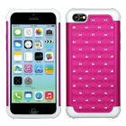 iPhone 5C Lite Hybrid Studded Spot Diamond Case Skin Cover