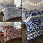 SNOWFLAKE ALPINE REVERSIBLE QUILT DUVET COVER BEDDING SET WITH PILLOW CASE NEW