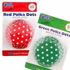 PME Polka Dot Cupcake/Bun Cases -Pack of 60- Cake Decorating High Quality Craft
