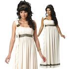 Womens Olympic Greek Goddess Toga Party Costume Halloween Fancy Dress Outfit