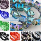 8x8mm Charms Crystal Cube Square Bracelet&Necklace Finding Beads 10pcs 30Colors