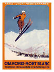 Chamonix Mont Blanc Travel Print - Framed And Memo Board Available