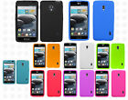 For LG Optimus F6 D500 MS500 Rubber SILICONE Skin Soft Gel Case Phone Cover