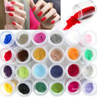 Nail Art 24 Colors Velvet Flocking Powder Tips UV Polish Manicure Decoration Set