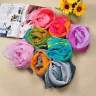 Chiffon Feel Fashion Rainbow Chiffon Scarf Wrap Shawl Stole Wrinkled 19 Colors