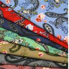 Floral Paisley Pattern & Roses 100% Cotton Poplin Fabric