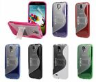 SoftGrip Hard Cover Kickstand Case For Samsung Galaxy S4 S IV i9500