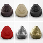 Extra Large XL Faux Leather Classic Pear Gaming Chair Seat Bean Bag with Filling