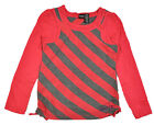 Hurley Big Girls L/S Dark Coral & Charcoal Top Size 7 8/10 12/14 16 $32