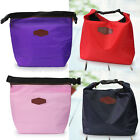 Waterproof Cooler Insulated Portable Nylon Lunch Bag Bento Picnic Pouch 4 Color
