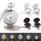 Men's Hollow Steampunk Skeleton Mechanical Analog Quartz Pocket Watch Gift