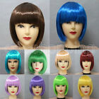 Hot Ladies Womens Straight Short Bob Short Wig Hair Cosplay Fancy Dress New