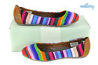 *REEF Tropic* multistripes / brown * HALBSCHUHE * DAMEN * BALLERINA * SCHUHE