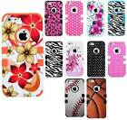 For Apple iPhone 5S Tuff Multi Designs Girly Flowers Hearts Cover Case Accessory
