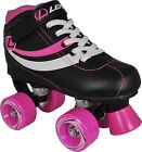 Lenexa Charm Children Birthday Quad Roller Skates Girls Black / Pink Size 12J-5
