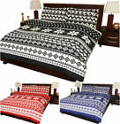 """Nordic"" Flannelette Duvet Quilt Cover & Fitted Sheet  , Complete Bedding Set"
