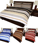 """Helsinki"" Flannelette Duvet Quilt Cover & Fitted Sheet  , Complete Bedding Set"