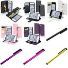 Color Flip Wallet Pouch Leather Card Holder Case+Clip Stylus For iPod Touch 5