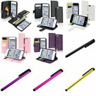 Color Flip Wallet Pouch Leather Card Holder Case+Clip Stylus For ipod touch 5 6