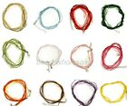 10Pcs Organza Voile String ribbon Cord Necklace Lobster Clasp Chain Choose