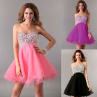 Elegant Sweetheart Beads Bridesmaid Evening Party Prom Cocktail Homecoming Dress