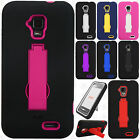 For AT&T GoPhone ZTE Z998 IMPACT Hard Rubber Case Phone Cover Kickstand