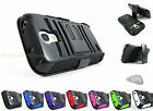 for Samsung Galaxy S4 IV MINI Heavy Duty Hybrid Case & Belt Clip Holster+PryTool