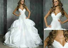 New Wedding Dresess V Neck Sexy Ball Fashion Custom Gown Formal  Brida Gowns