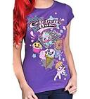 LIVING DEAD SOULS T Shirt CAKES Cute Emo PURPLE  All Sizes 8 10 12