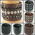 UH067 Net Style Widen Leather Wristband Cuff Men/Women Punk Gothic Emo Lolita