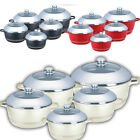 NEW 10 PIECE DOME LID DIE-CAST CASSEROLE SET KITCHEN SAUCE POT COOKWARE 10PC