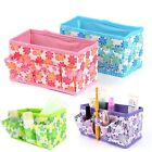 Makeup Cosmetic Storage Box Bag Bright Organiser Foldable Stitionary Container *